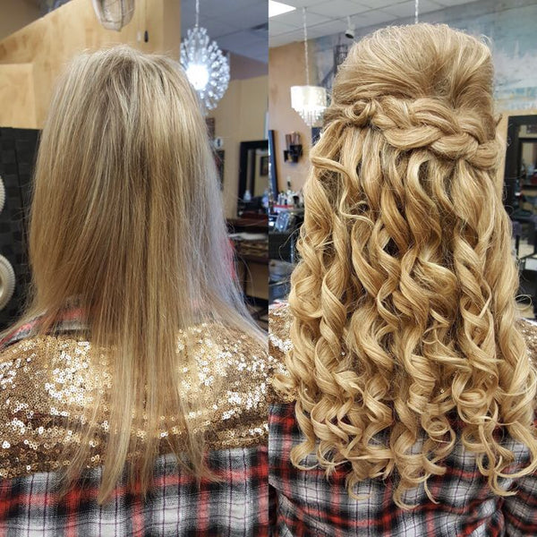 hair extensions for wedding and formal hairstyles