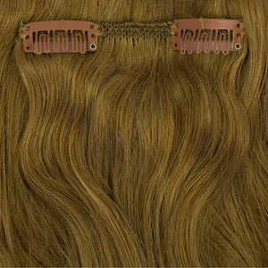 medium golden dark blonde clip in hair extensions
