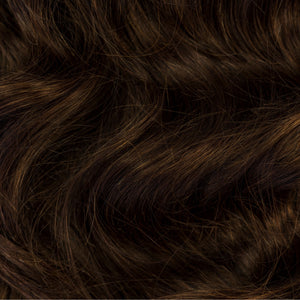 Dark brown clip in hair extensions shaggy loxx