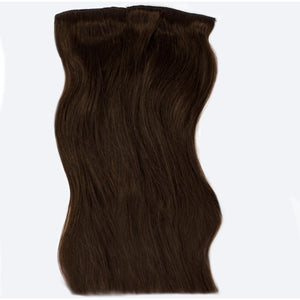 long dark chocolate brunette clip-in hair extensions