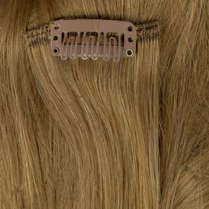 medium ash blonde human hair extensions clip on
