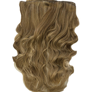 long brown and blonde remy human hair clip in extensions