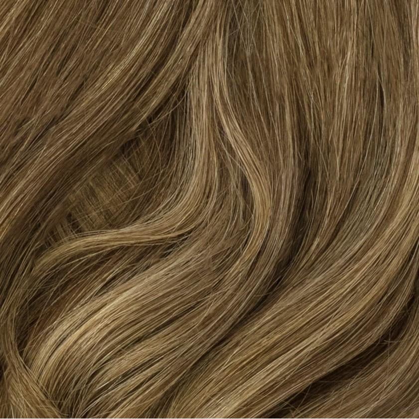 "14"" 140 Grams Taupe Blonde Highlight Clip in Hair Extensions"