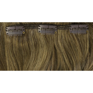 brunette and blonde highlight hair extensions
