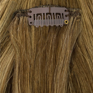 blonde and brown highlight extensions remy human hair flip in