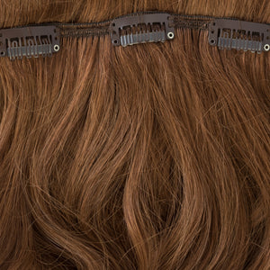 brown and burgundy clip on hair extensions