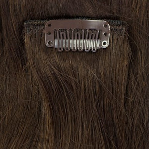 Chocolate brown remy hair extensions clip-in