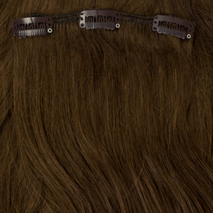 brunette clip-in hair extensions