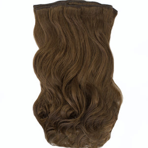 medium brown remy clip-in human hair extensions long