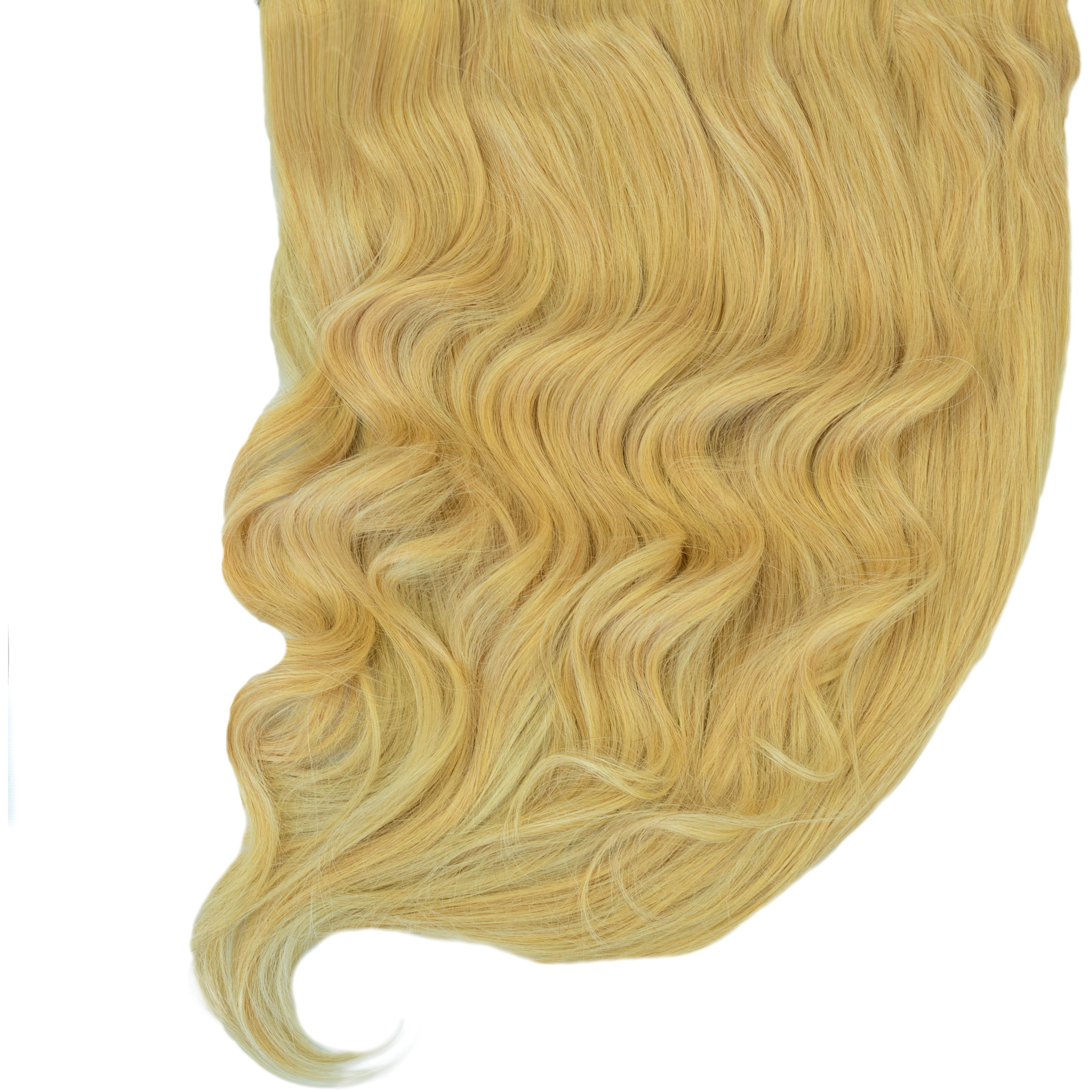 full thick blonde human remy clip in hair extensions