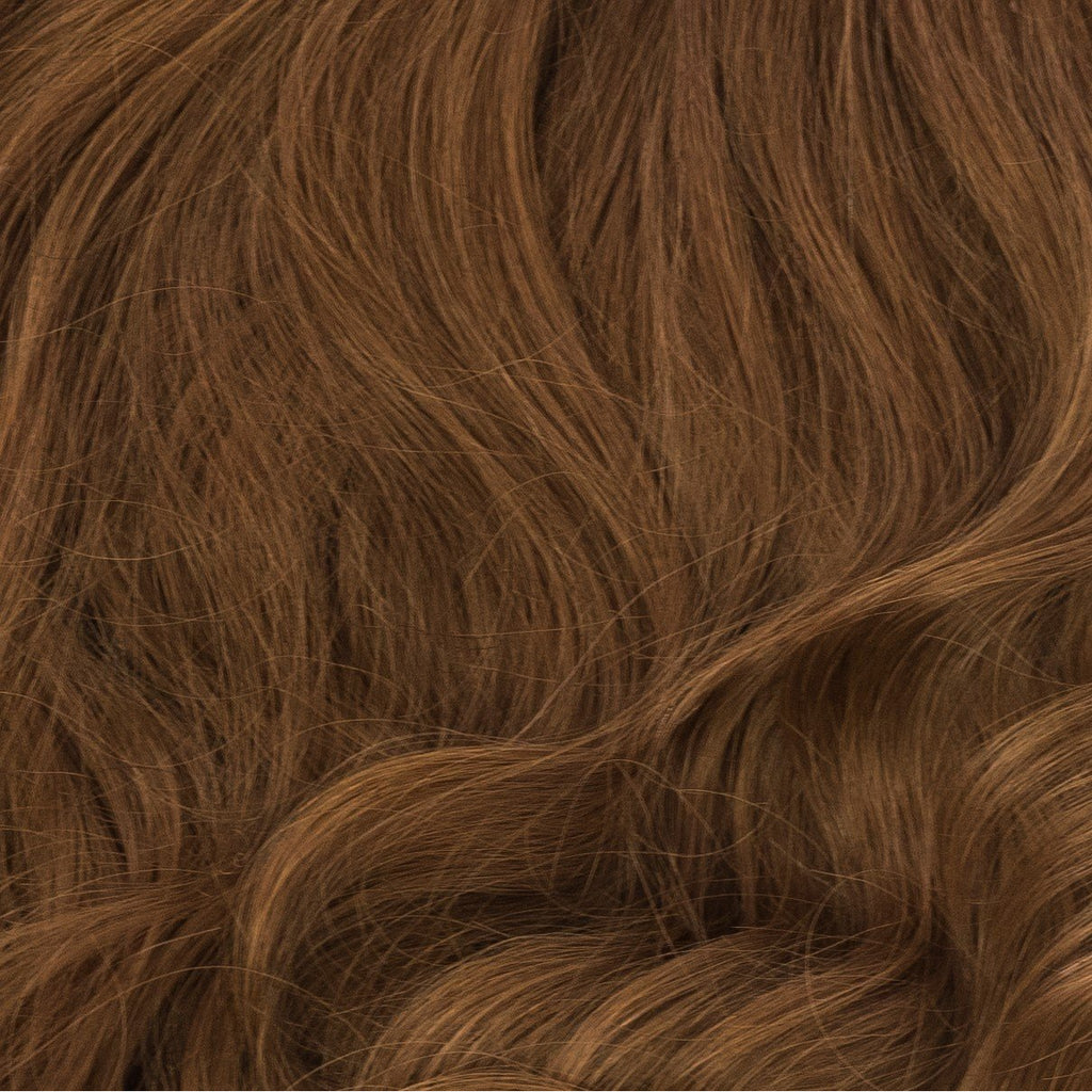 red and brownish hair extensions clip-in