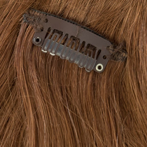 light brownish red clip on remy hair extensions