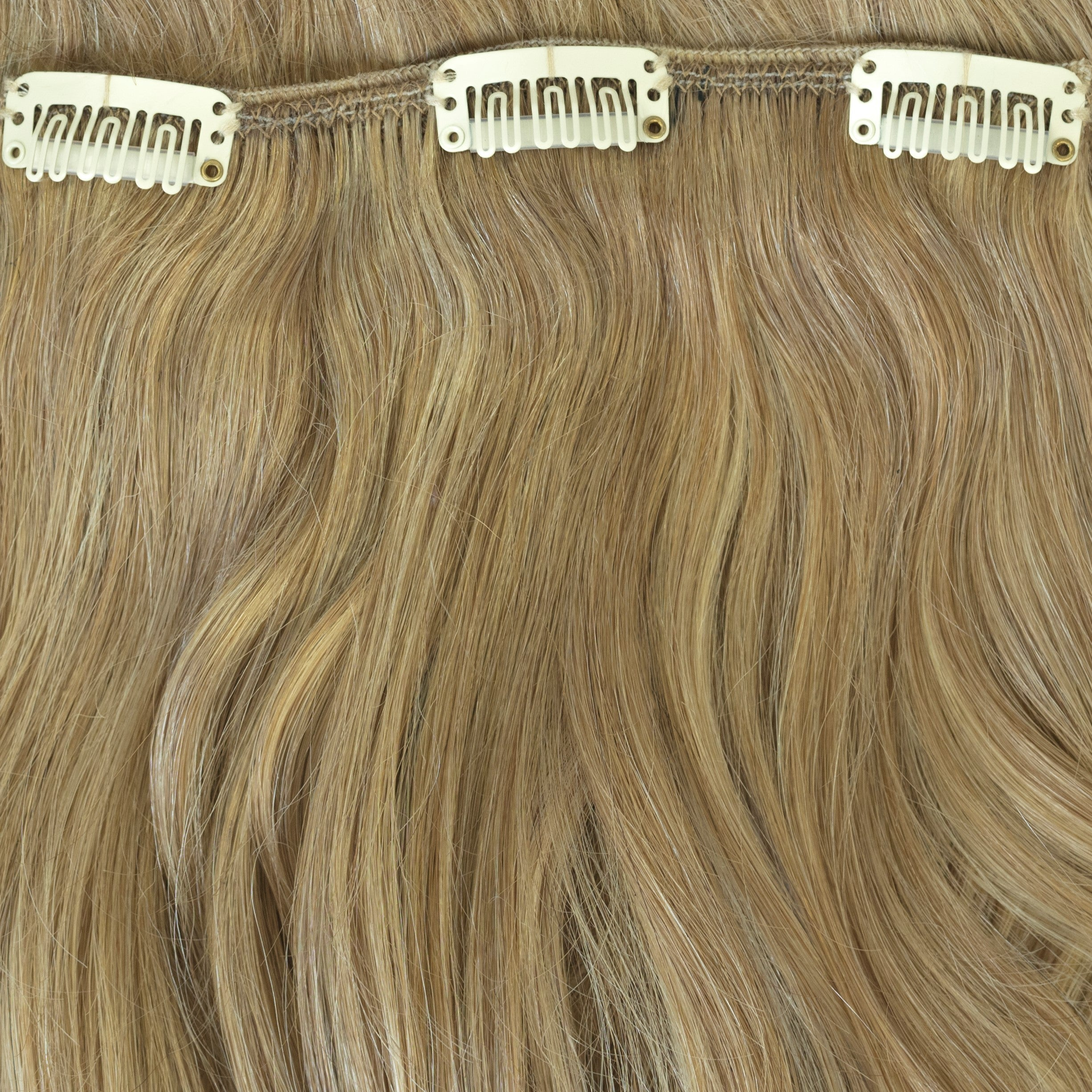 dark blonde highlight remy clip in hair extensions