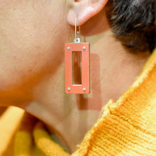 Rectangle Drop Earrings (Reversible)
