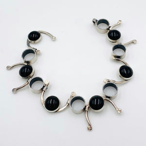 Rediscovered - Onyx and Silver Bracelet