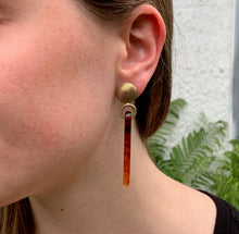 Faux Tortoiseshell Earrings
