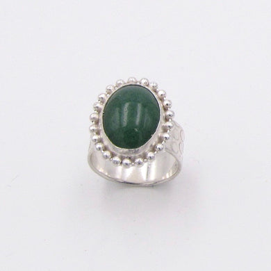 Beaded Aventurine Ring