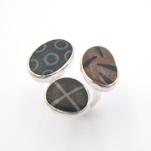 Triple Pebble Ring