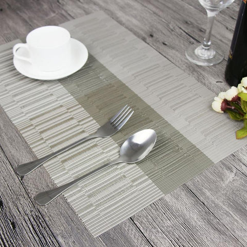 Bamboo Striped Placemats (4pc/set)