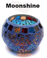 Candle Holders - Handcrafted Mosaic Carved Glass Centerpiece - Various Colors