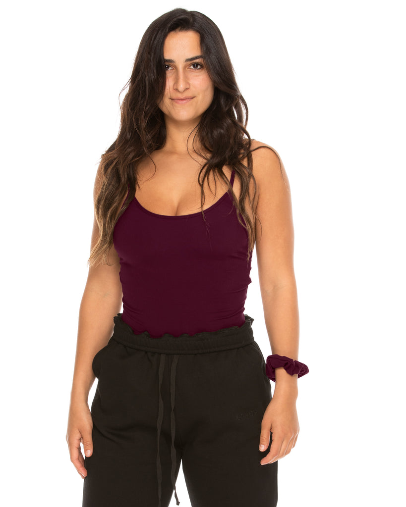 Basic Bodysuit - Plum