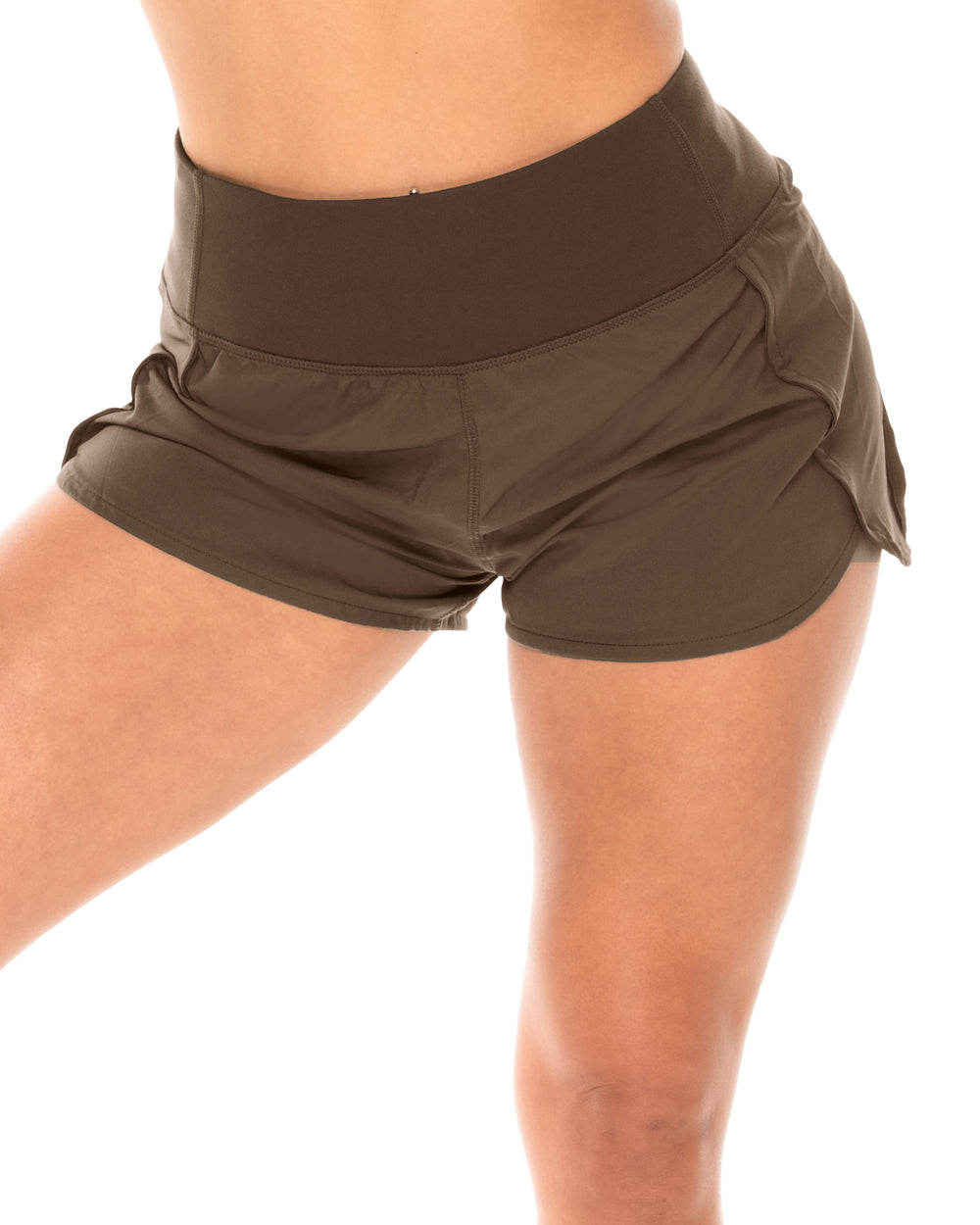 Oversized Running Shorts - Olive