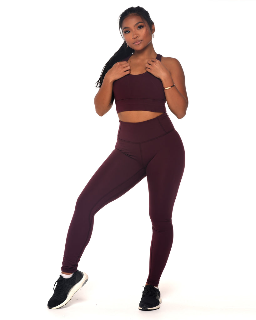 Basic Leggings - Plum