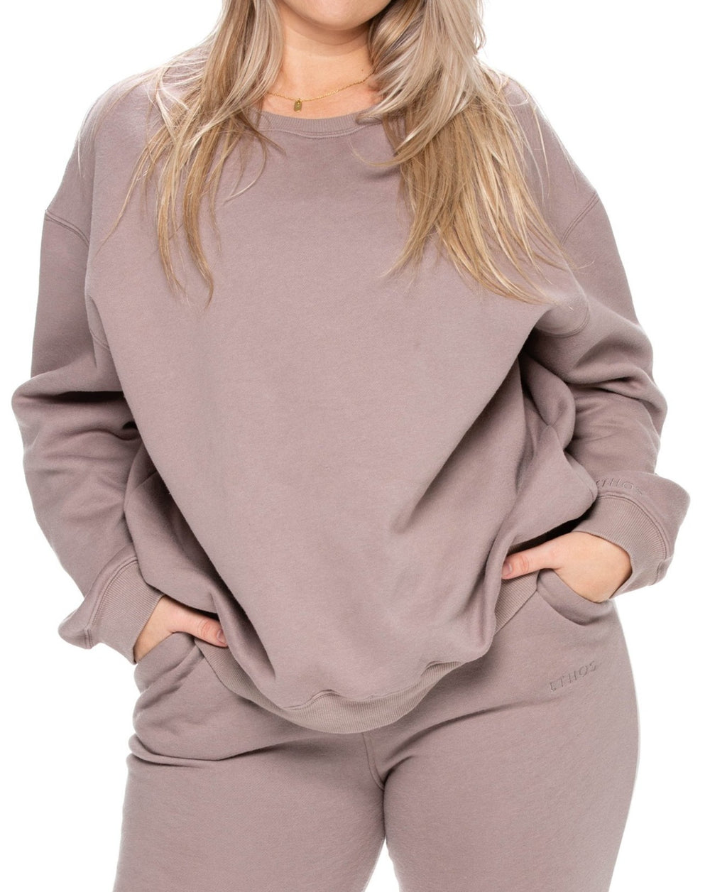 Oversized Sweats - Pebble