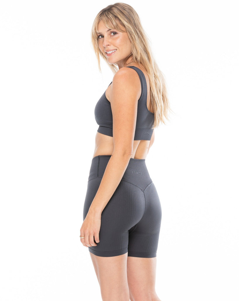 Ribbed Shorts - Storm