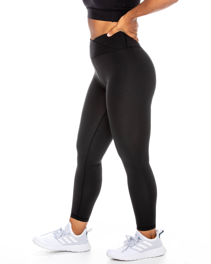 Crossover Leggings - Black