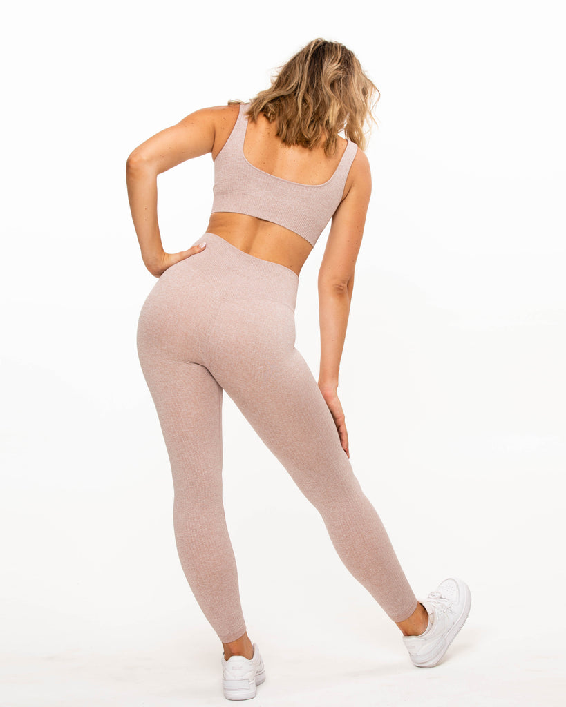 Ribbed Leggings - Mauve