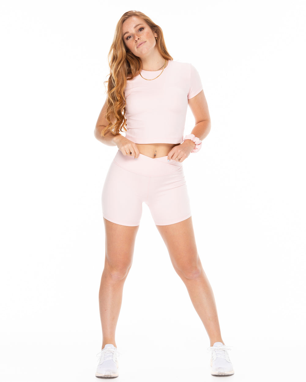 Crossover Shorts - Blush