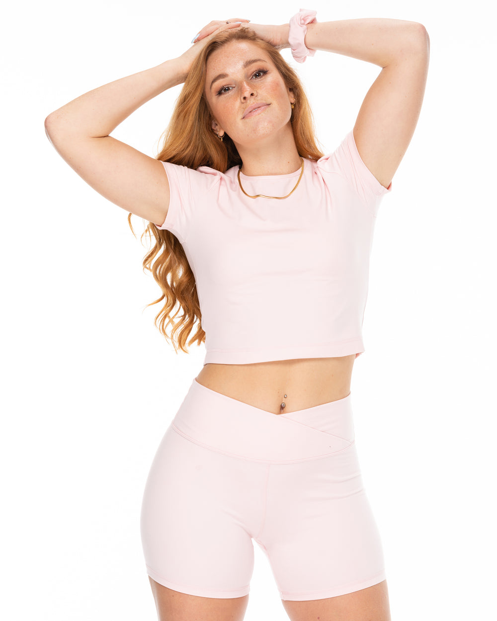Magic Cropped Tee - Blush