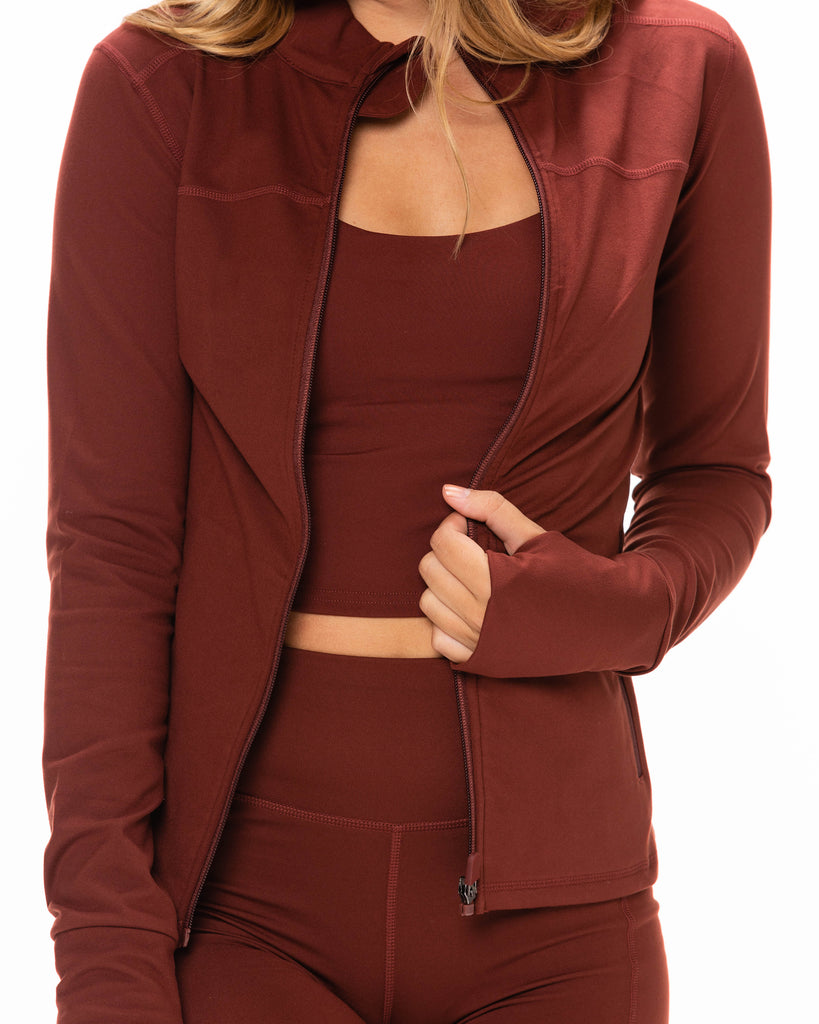 Zip It Up Jacket - Sienna