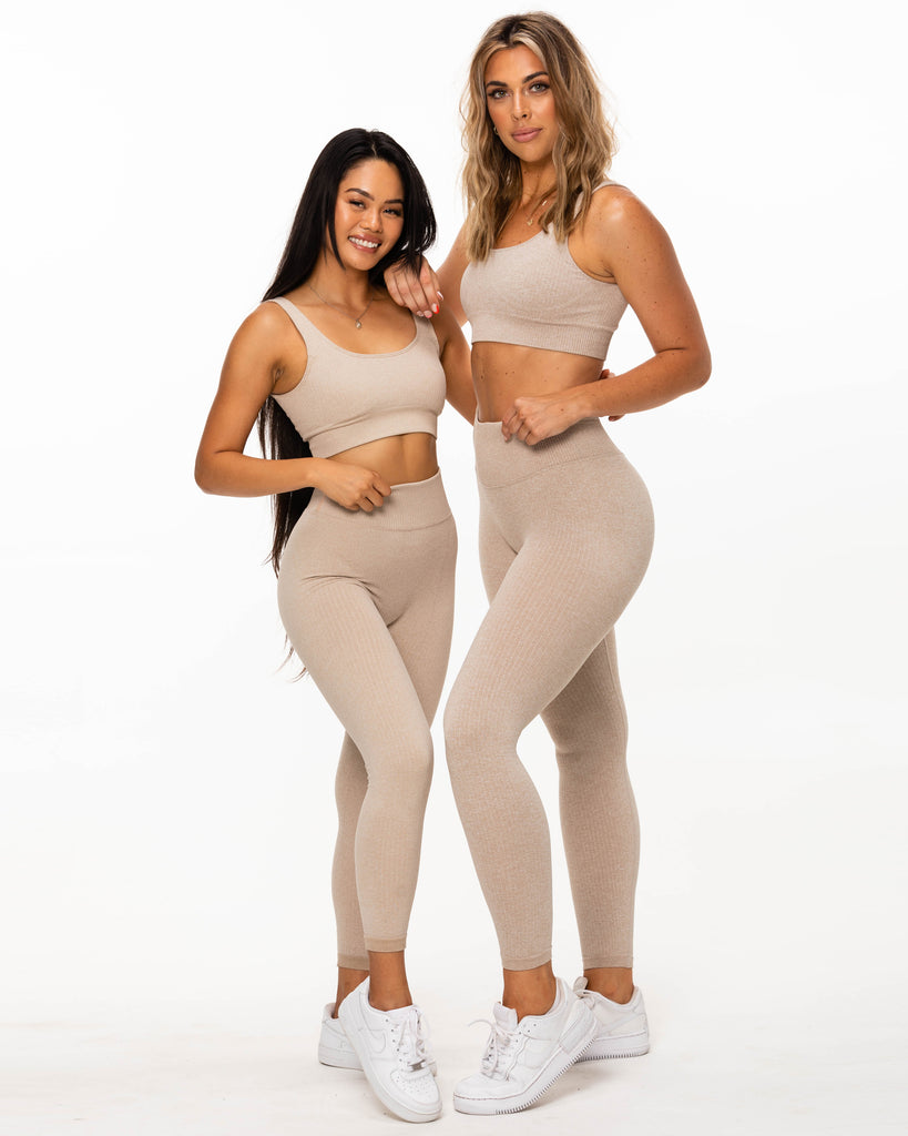Ribbed Leggings - Oatmeal