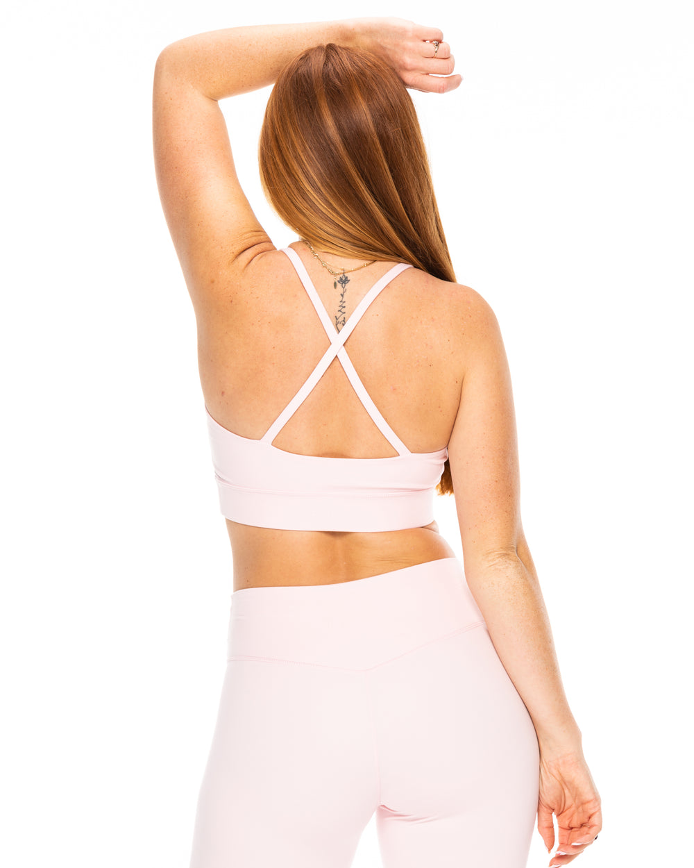 Strappy Cut Out Bra - Blush