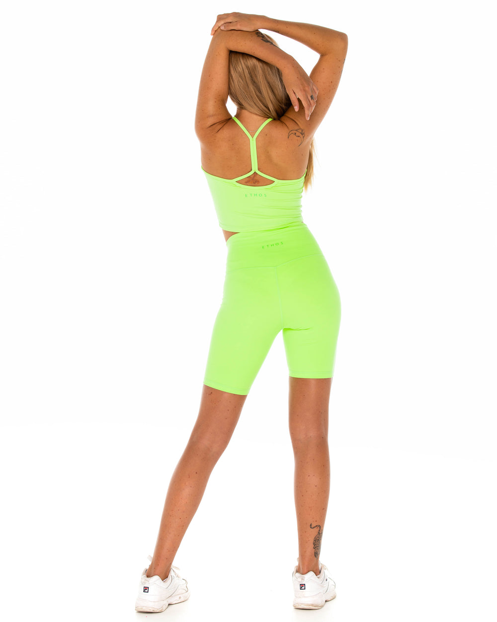 Basic Biker Shorts -Lime