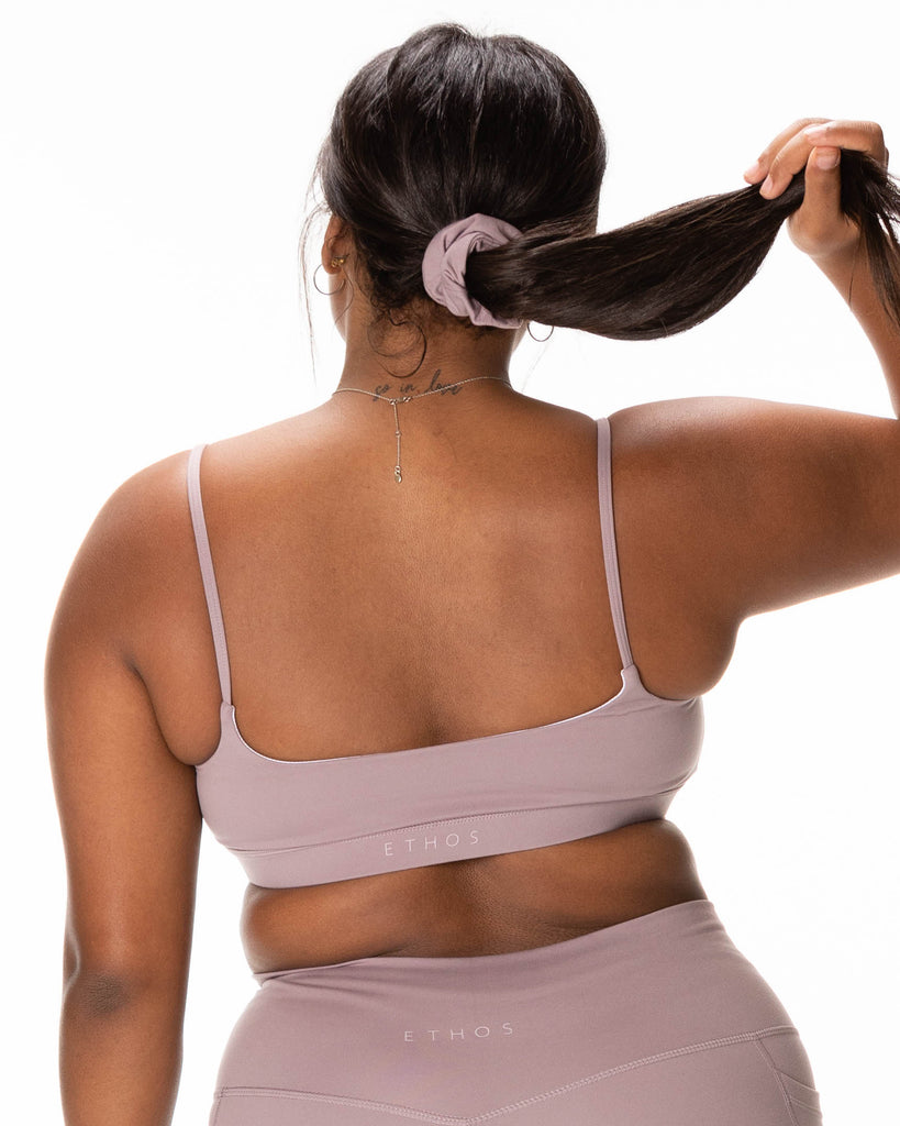 Back To Basics Sports Bra - Smoke