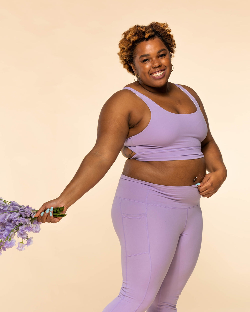 Twist & Turn Bra - Lavender