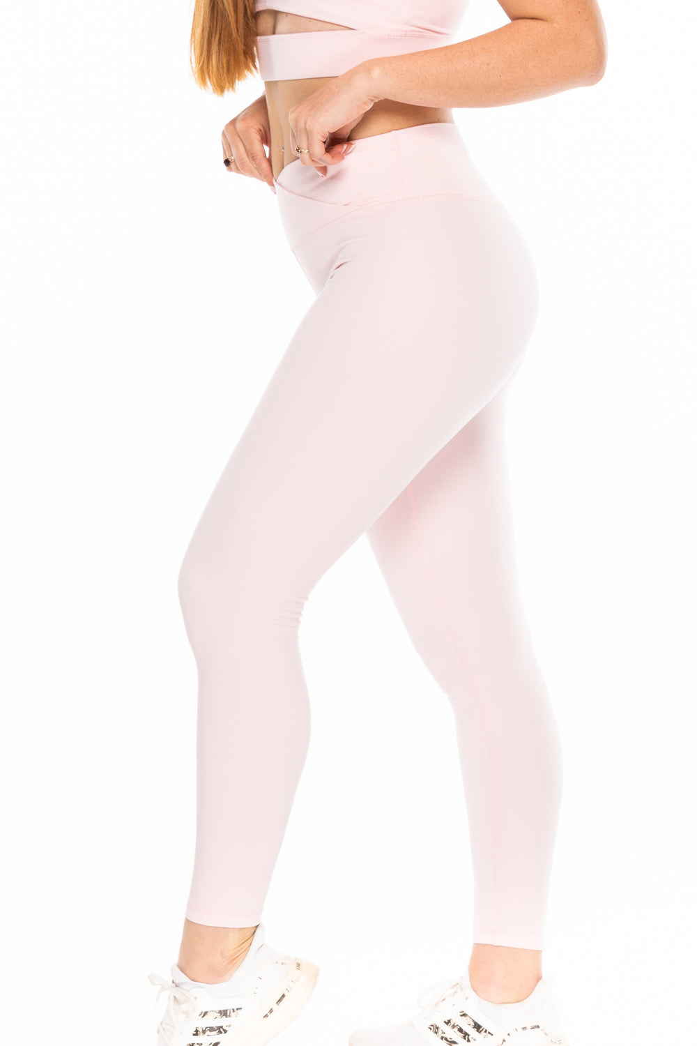 Crossover Leggings - Blush