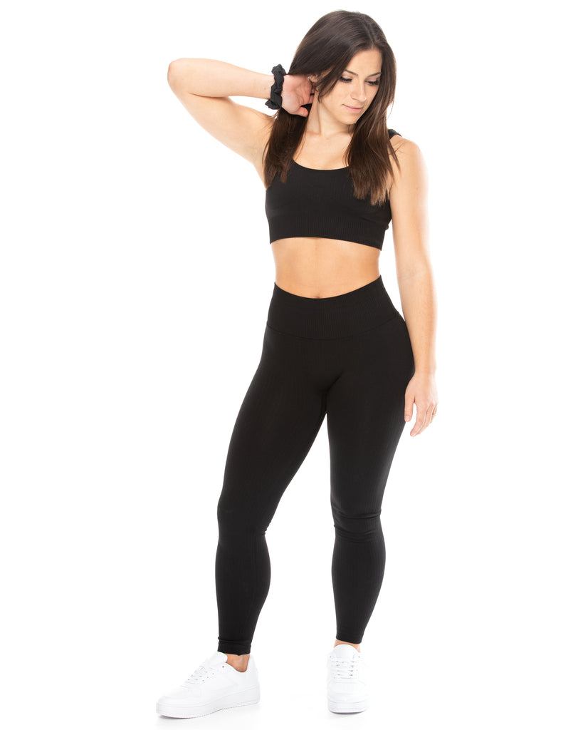 Ribbed Leggings - Black