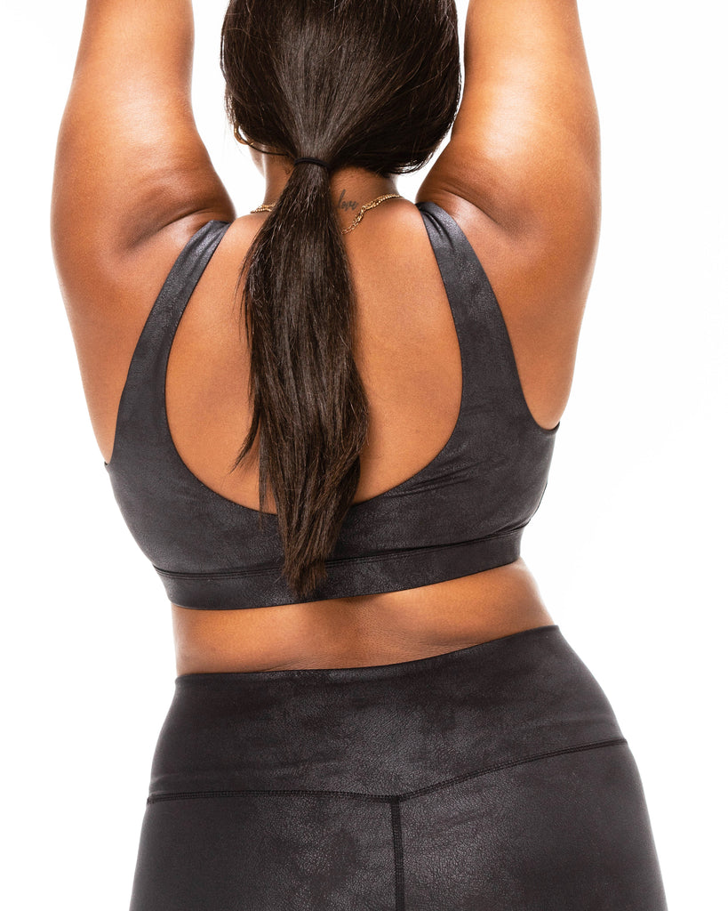 Scoop Back Bra - Leather