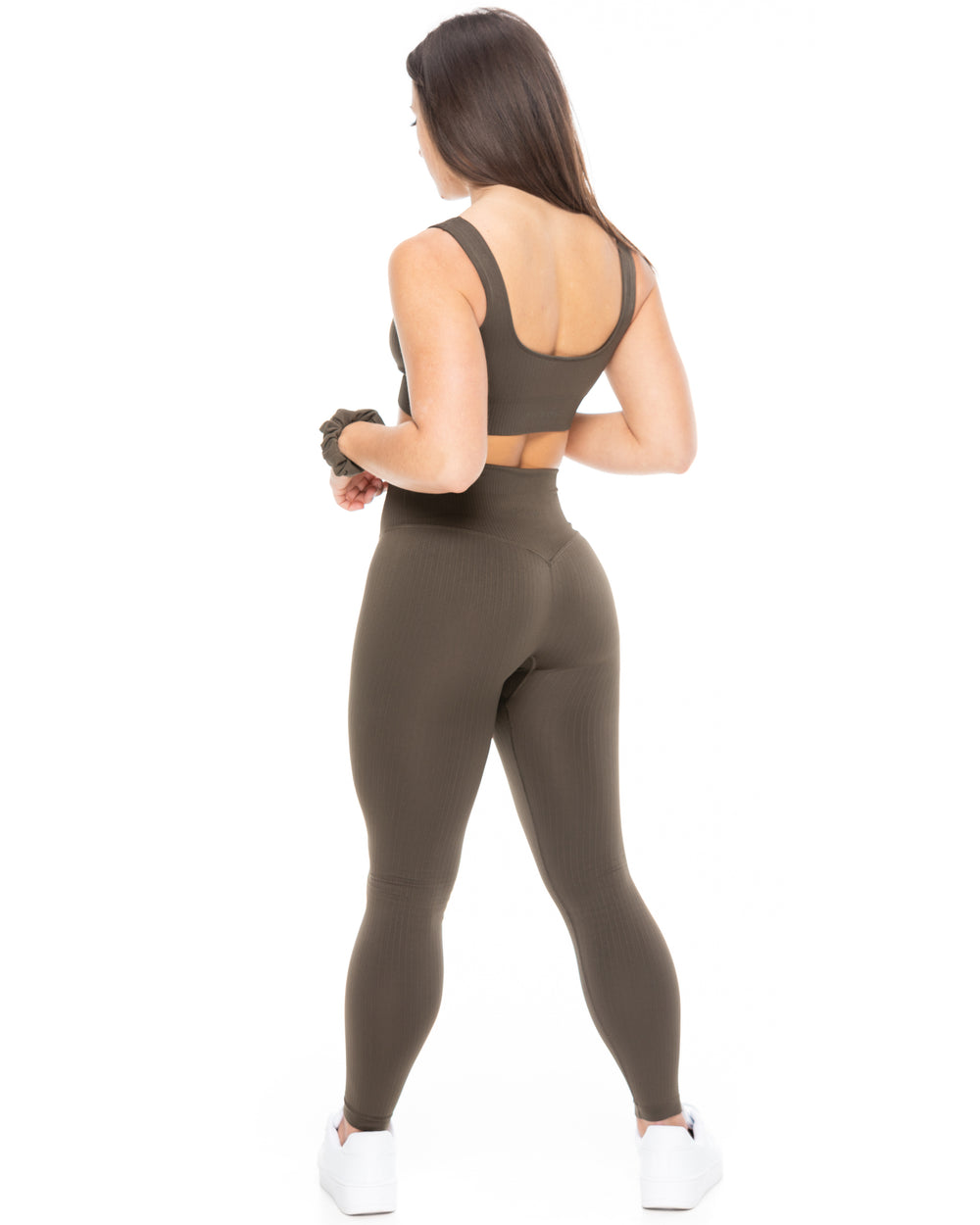 Ribbed Leggings - Olive