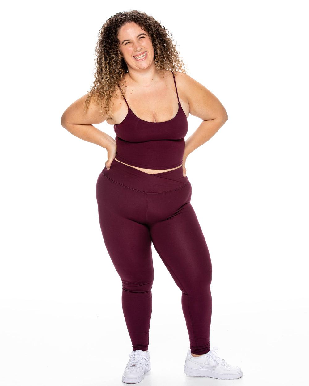 Crossover Leggings - Plum