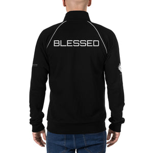 """Blessed"" Piped Fleece Jacket"