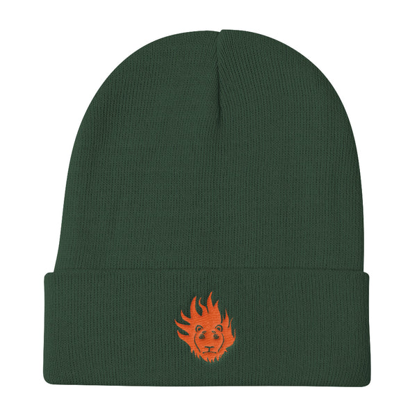 """Lion Head"" Knit Beanie"