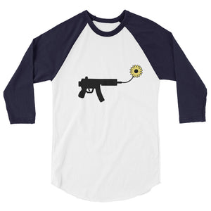 IS WAR THE ANSWER 3/4 sleeve raglan shirt