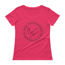 Ladies' Nevertheless, She Persisted Scoopneck T-Shirt