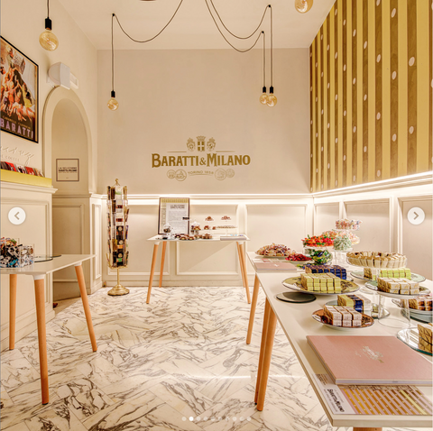 The beautiful inside of Abri and the room that contains Baratti & Milano.