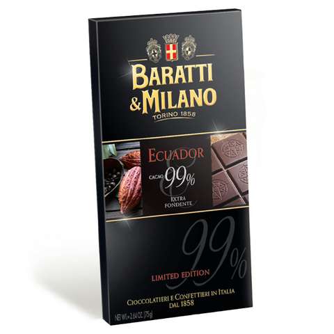 Baratti And Milano 99% Chocolate Bar